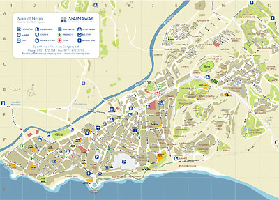 Map of Nerja   Spain Away